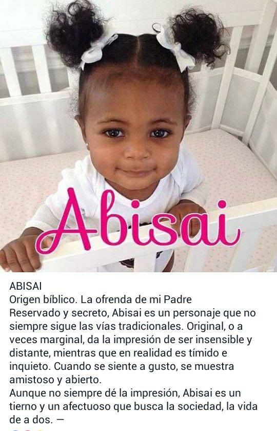Nombres para bebé, niñas, significado de: Abisai
