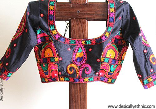 Black Kutch Work Blouse Design 1 – Desically Ethnic