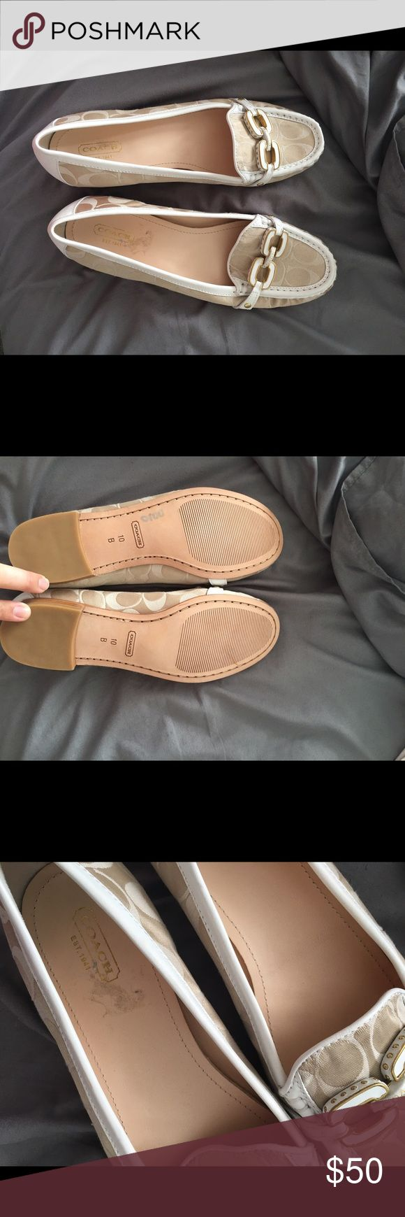 Coach size 10 Coach flats size 10 never worn just a little spot from sticker inside as pictured Coach Shoes Flats & Loafers