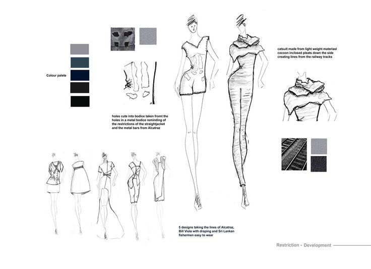 Gemma May- Fashion Portfolio: Restriction- Fashion Form and Material