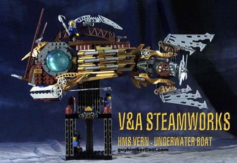 Brass Meets Bricks: 20 Steampunk LEGO Art Creations