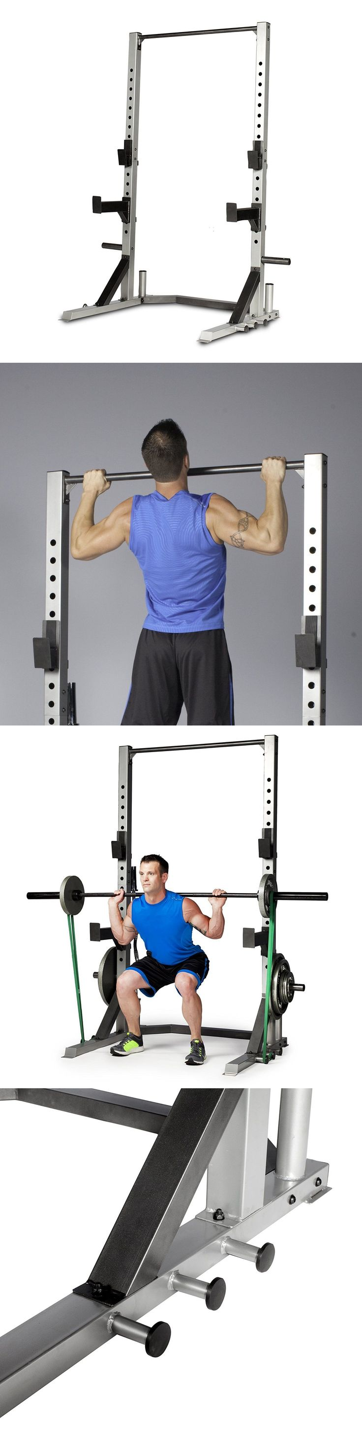 Power Racks and Smith Machines 179815: Strength Power Lifting Rack Weight Stand Squat Fitness Pull Up Bench Press Cage -> BUY IT NOW ONLY: $273.1 on eBay!
