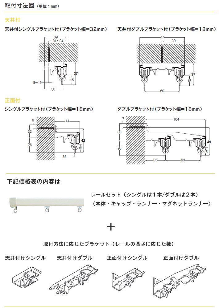 楽天市場 Toso トーソー製 カーテンレールエリート ブラケットセット