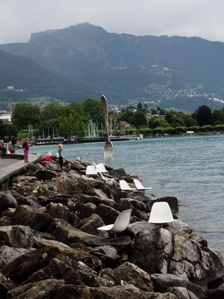 Chairs on the boardwalk in Vevey Switzerland. http://www.francetraveltips.com/france-switzerland-vevey-charlie-chaplin/