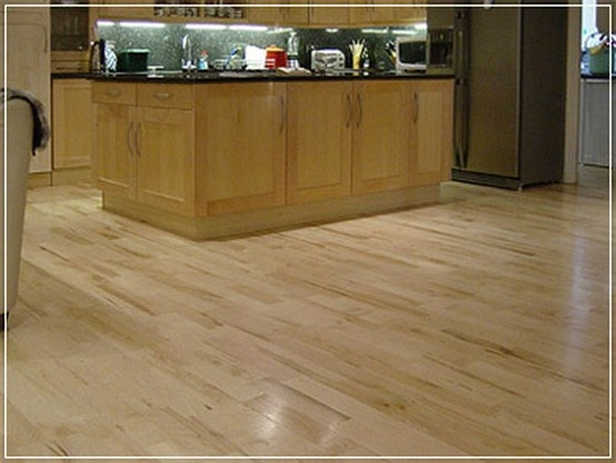 Maple Floor In Kitchen