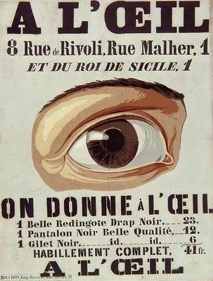 Jean Alexis Rouchon    Realiza carteles sobre todo de moda y teatro.     Utiliza casi siempre la misma estructura: en la parte de arriba texto que incluye el título del cartel, el anunciante y la dirección; en el centro del cartel la imagen y en la parte superior otro texto, el eslogan.
