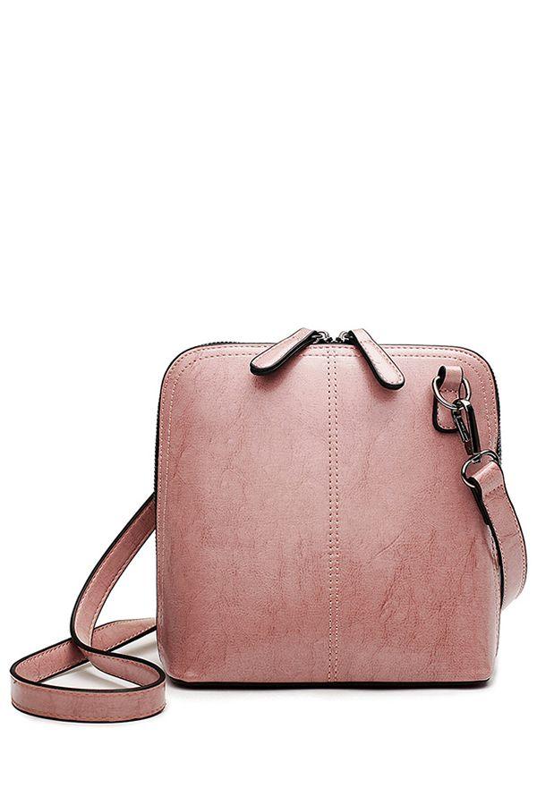 Пряжка Zipper Solid Color Crossbody сумка