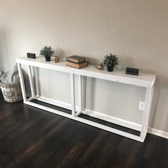 Long Narrow White Console Table White Console Table Furniture Feet Stained Table