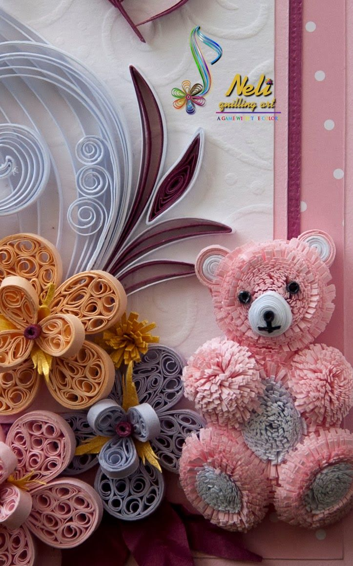 Neli Quilling Card And Teddy Bear Figuras De Filigrana