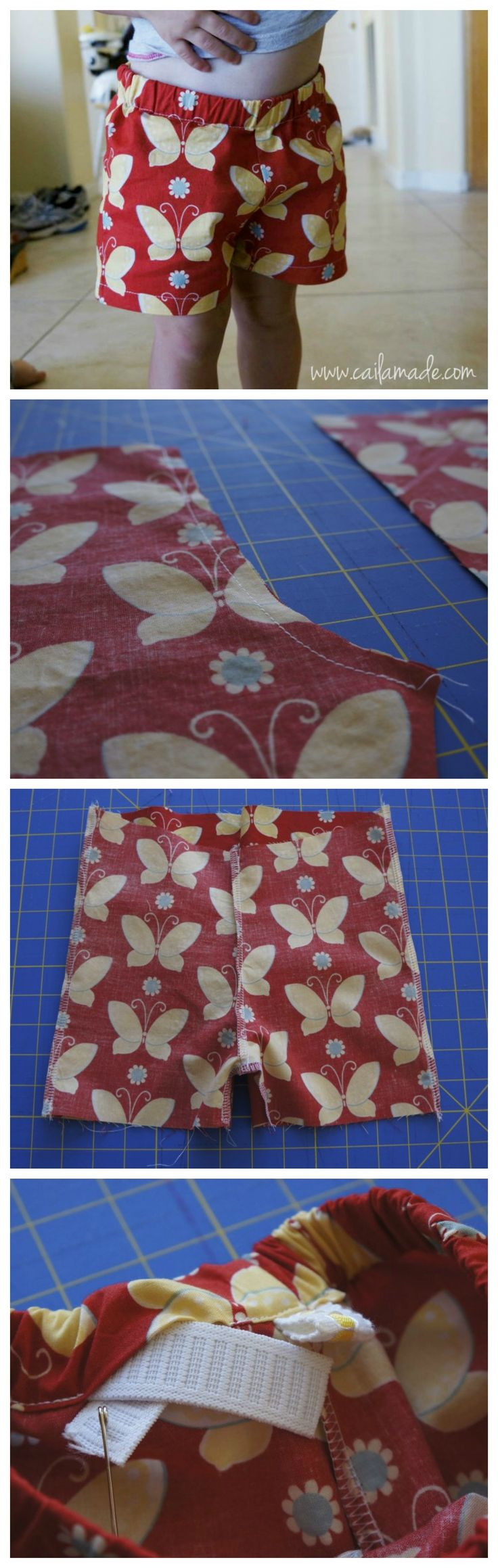 kids shorts tutorial elasticated waistband