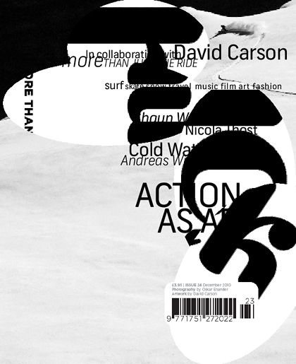david carson designed the cover of the feb 2011 issue of HUCK mag. @designerwallace