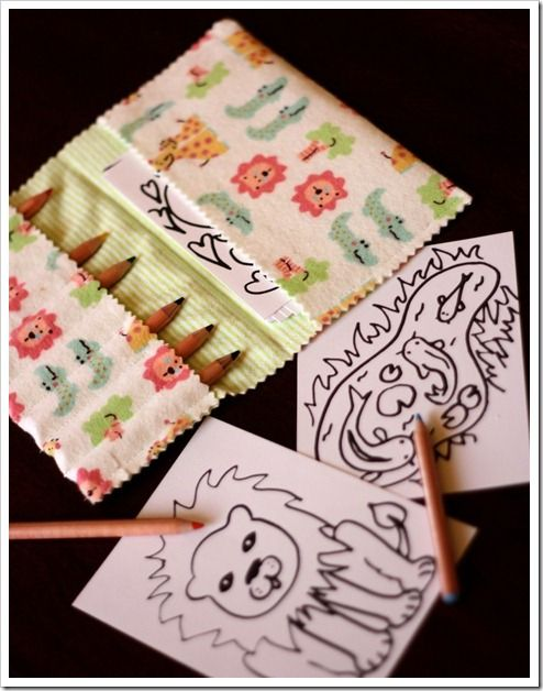 cute, compact, and functional - coloring wallet to quietly amuse kids at restaurant, waiting room, etc...