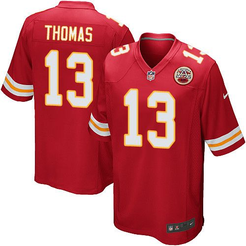 Nike Game De'Anthony Thomas Red Men's Jersey - Kansas City Chiefs #13 NFL Home
