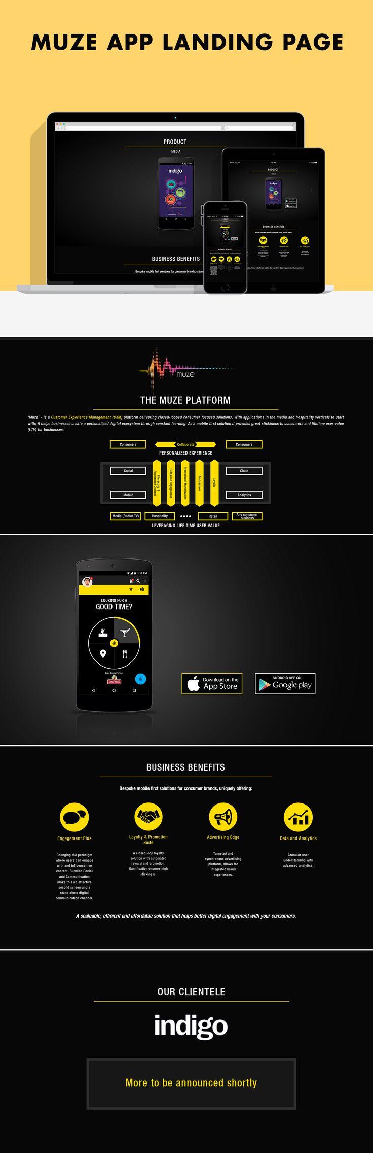 Muze App Landing Page