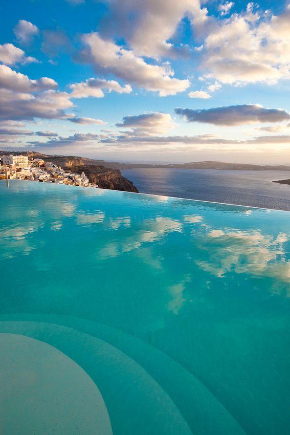 Cloud Reflections in Fira, Santorini