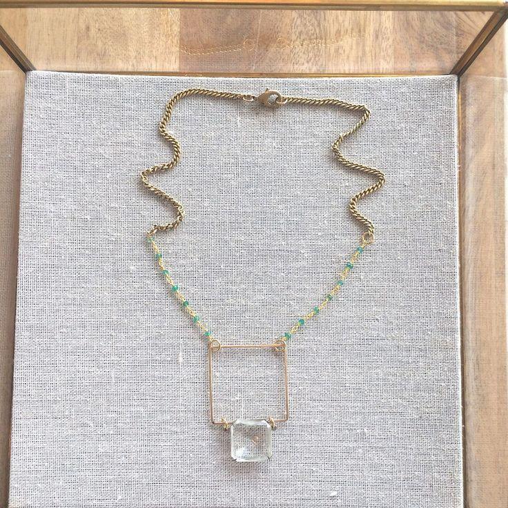 Gold Square Aventurine Necklace- Laura James Jewelry – Laura James Jewelry