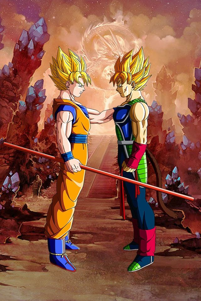 GOKU and BARDOCK dope ass pic!