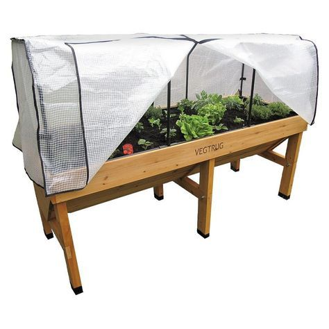 VegTrug Small Wallhugger Greenhouse Frame and PE Cover, White