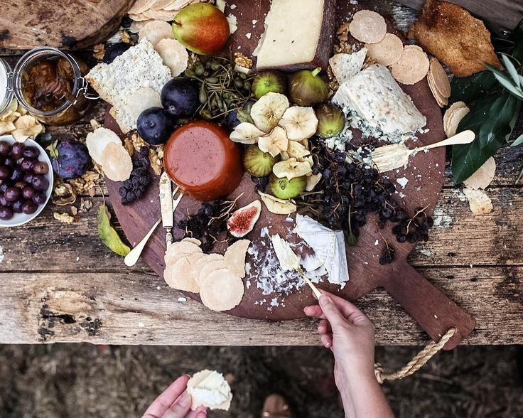 @leanandmeadow: There's cheese platters, & then there's this! A feast full of all the best that autumn & Canberra has to offer. Loved watching everything on this table get munched up at our #harvestsociety autumn in the orchard afternoon today - including fresh & caramelised figs, homemade quince paste & apple chips. All fruit that we harvested locally in Pialligo from @tanbella_orchard & @pialligoestate. Throw in some @canberraesntl cheeses & autumn doesn't get much better than that.