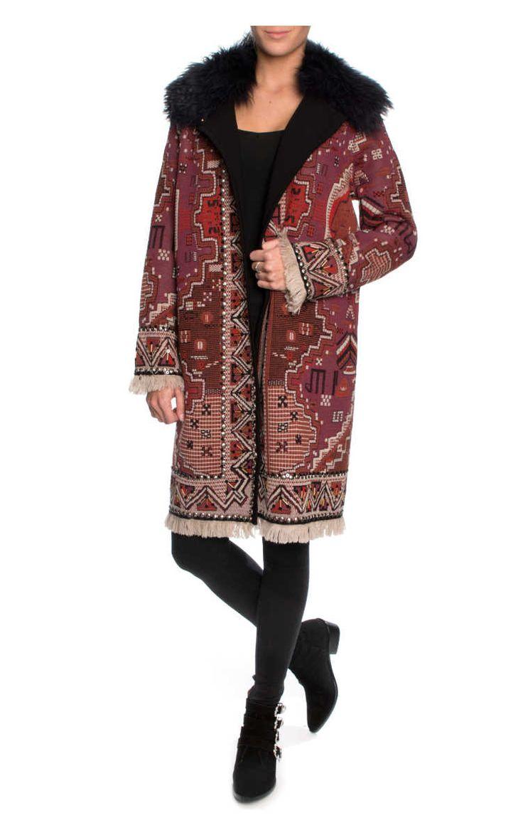 Kappa Embellished Long-Sleeve Coat TAPESTRY JACQUARD - Tory Burch - Designers - Raglady