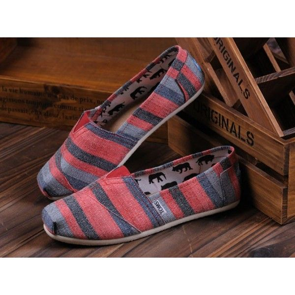 Toms Red Stipes Women's Classics Shoes