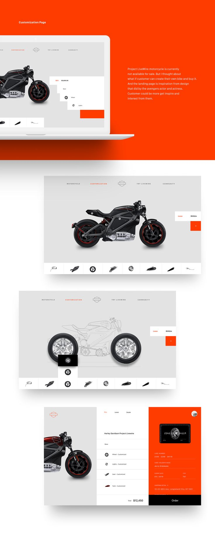 Harley Davidson - Project Livewire Website Redesign by Yeun Su Chu Chu