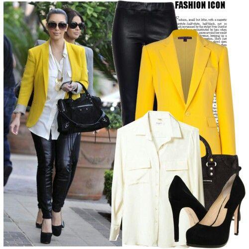Yellow blazer.. why not?