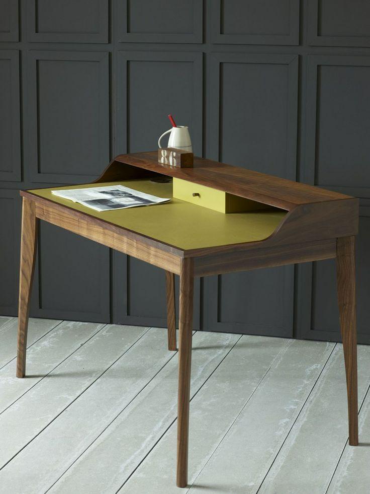 Escrivaninha de madeira maci a yves pinch for Schreibtisch yves pinch