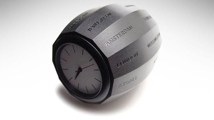 World Time Clock Barrel.
