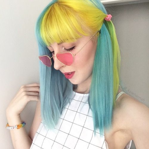 an-artful-life:  yellow+blue+pink (From my Insta @_katehannah)