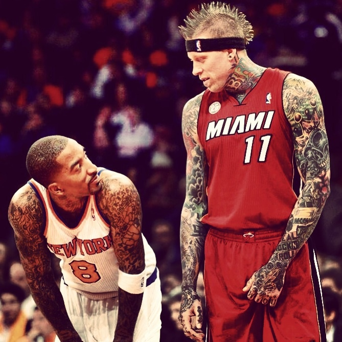 JR Smith & Chris Birdman Andersen, former teammates