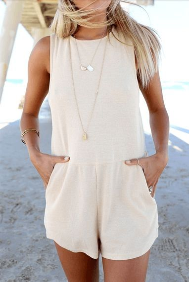 Beige can be fun too  Adorable Rompers That Are Perfect For Summer • Page 4 of 6 • BoredBug