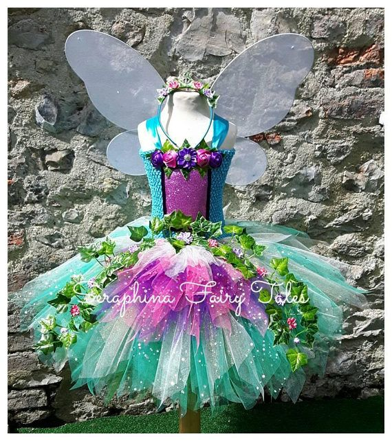 Teal Forest Woodland Fairy Tutu Dress. Ivy & Rose Gala Party