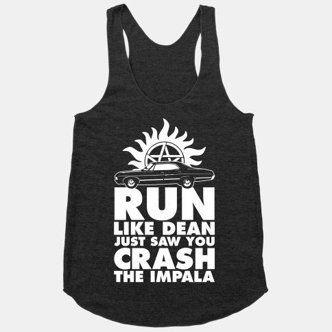For when it seems like your next workout would require Supernatural effort: | 27 Fandom Workout Tees That May Get You To The Gym
