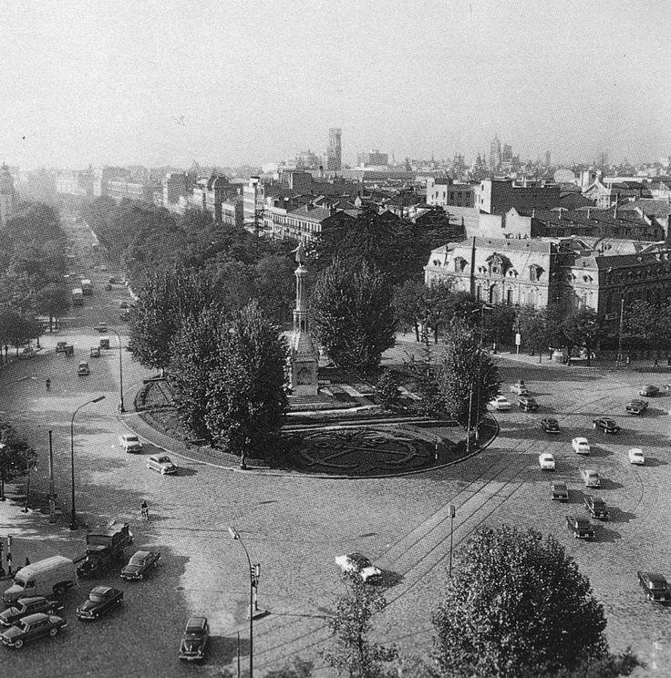 Imágenes del viejo Madrid plaza de Colón hacia 1960