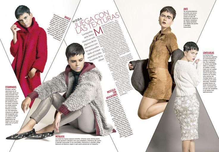 """Especial de Moda para la revista Gloss de Noroeste. """"Juega con las texturas"""""""