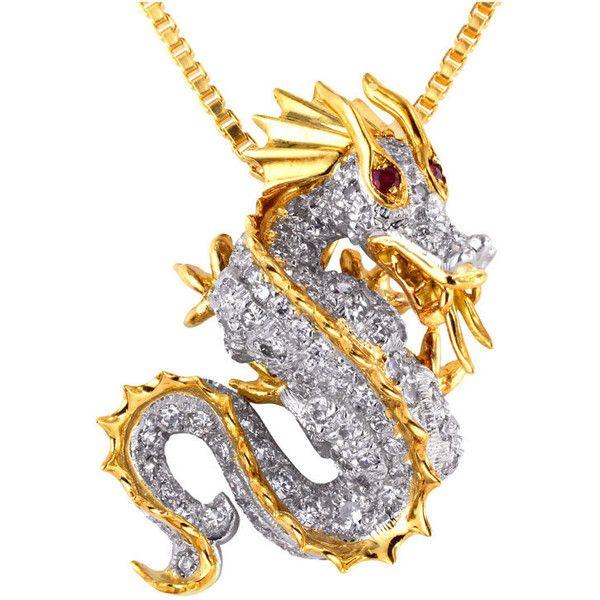1STDIBS.COM Jewelry & Watches - McTeigue - McTEIGUE Diamond Dragon... found on Polyvore