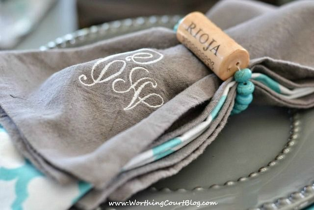 How to make wine cork napkins rings and bracelets || WorthingCourtBlog.com