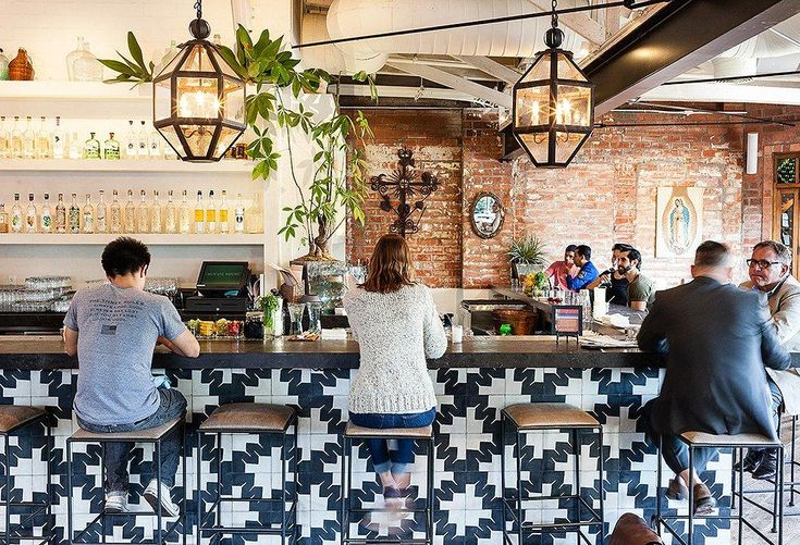 """Idea #3: Try Of-the-Moment Tile -- Tile is having a moment… in part because of places like Gracias Madre. """"I love that tile! We found it in Mexico City,"""" says Haworth. """"It's designed by graphic artists in Oaxaca and really drove the rest of the design."""" We love it on the bar, or in smaller spaces like a bathroom floor. Get more California cool, Mexican-inspired interior design ideas in """"7 Genius Design Ideas to Steal from Los Angeles Hot Spot Gracias Madre"""" on the One Kings Lane Style Guide!"""
