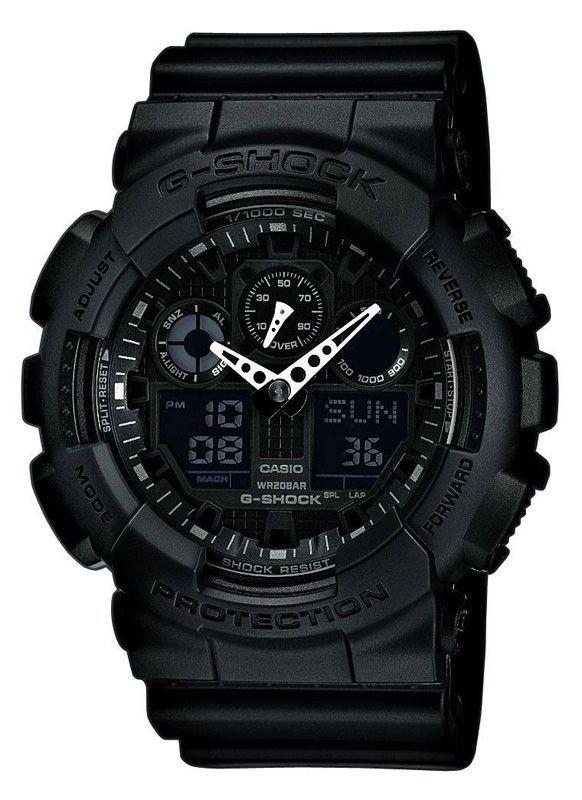 Casio GA100-1A1 Men's G-Shock Black resin Strap Watch