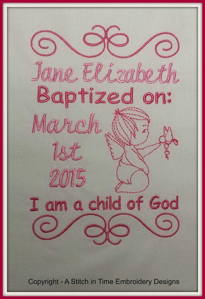 5x7 Baptism Announcement Template
