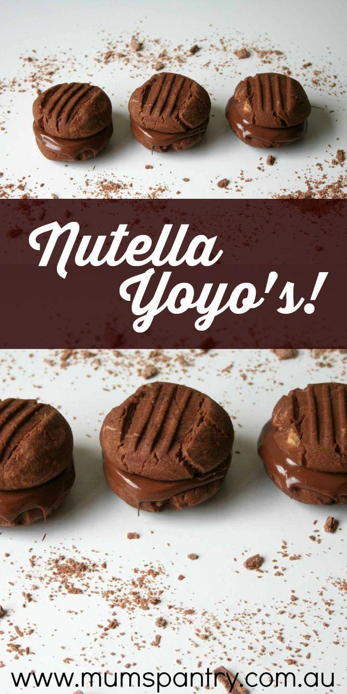 Nutella Yoyo Biscuits - Mum's Pantry