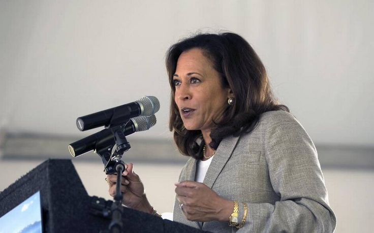 "U.S. Sen. Kamala Harris, D-California, on Aug. 30, 2017, told a crowd of mostly liberal activists that she plans to co-sponsor a ""Medicare-for-all"" bill pushed by Vermont Sen. Bernie Sanders."