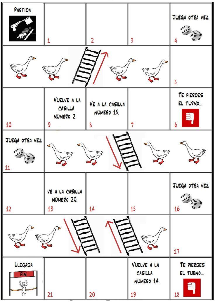 Tablero de la oca - Vacío | chutes and ladders game