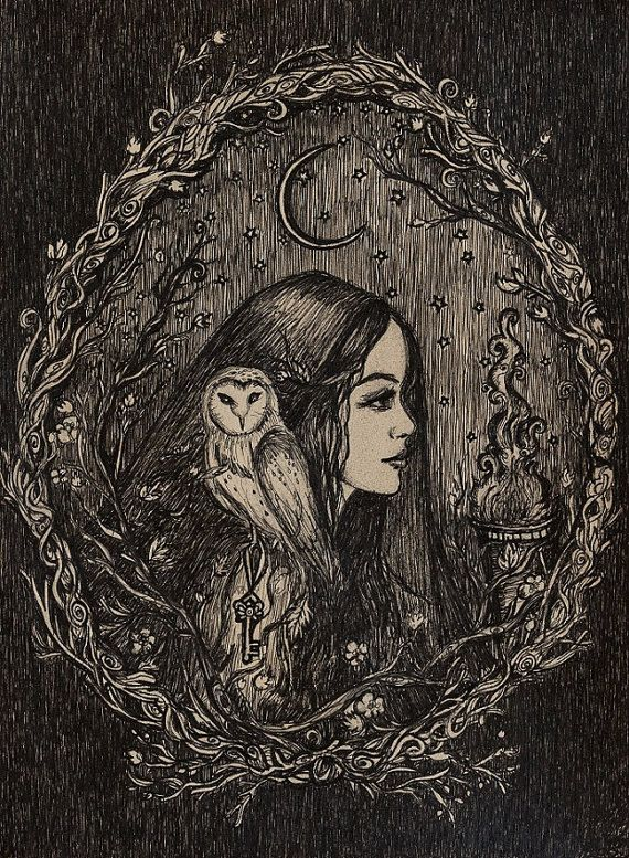 The Priestess of Hecate by ArtbyLadyViktoria on Etsy