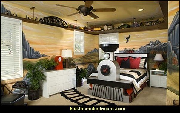 train bedroom accessories | train theme bedroom ideas-transportation bedroom decorating ideas