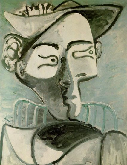 """Pablo Picasso - """"Seated Woman with Hat"""", 1962"""