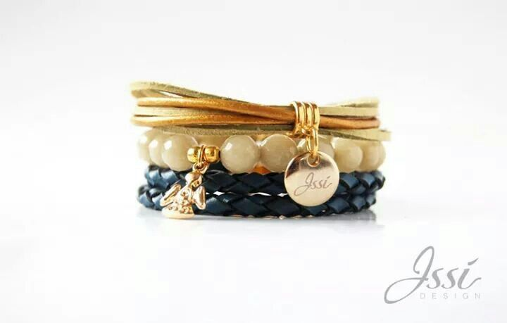 GUARDIAN ANGEL SET - jewelry by Issi , natural Stones and leather.