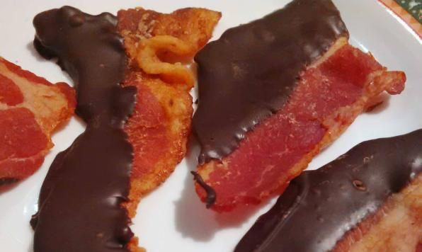 You can never go wrong with  #Chocolate Dipped #Bacon for your #Valentine