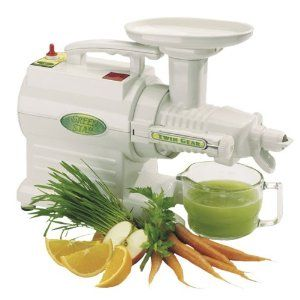 The Green Star Juicer by Tribest.  Juice from this juicer will last for 3 days!  Simply Amazing.